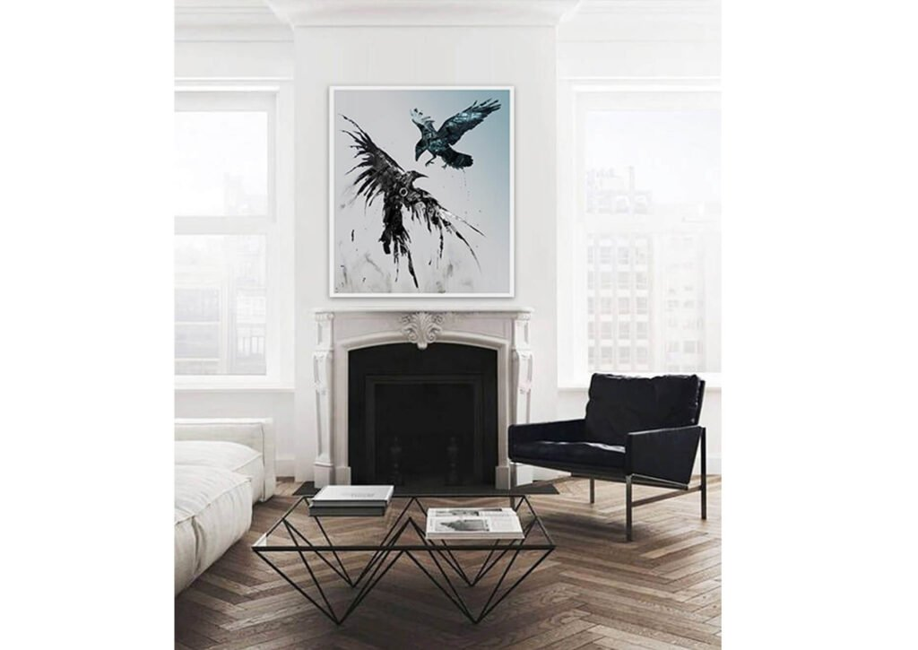 Steel Ravens Art Canvas