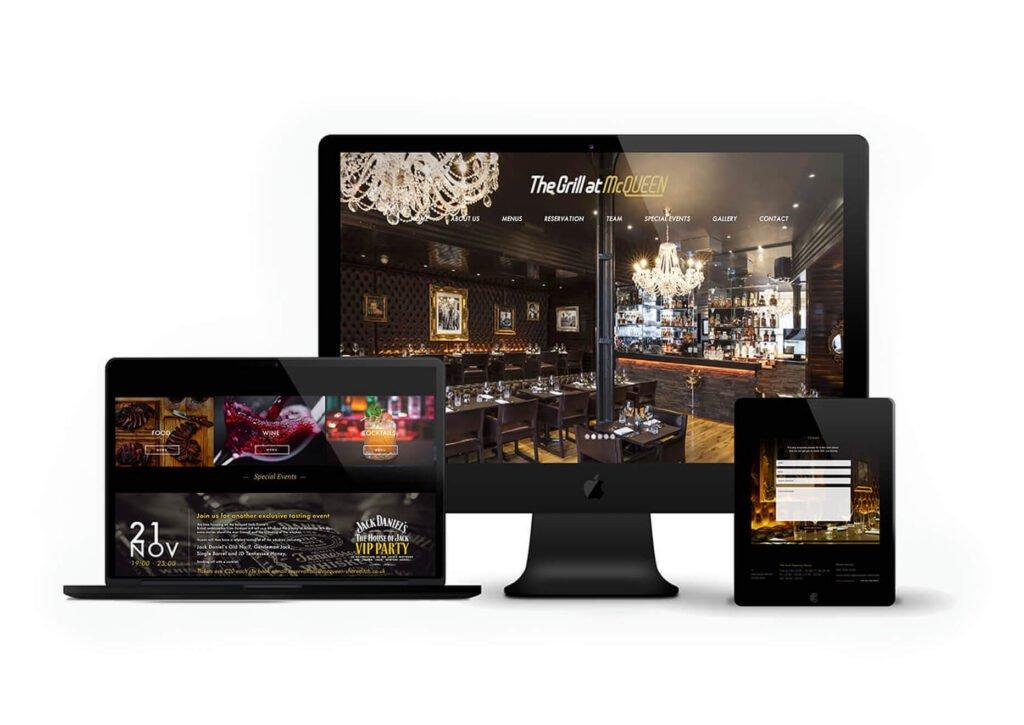 McQueen Grill Restaurant Website